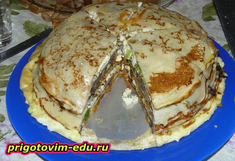 Блинчатый пирог-ассорти