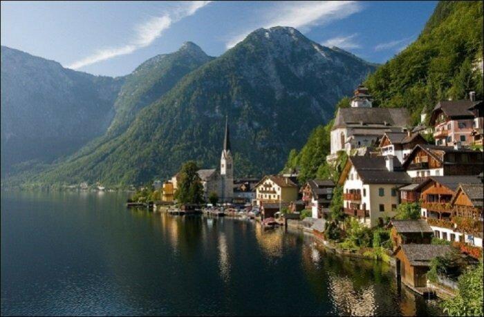 Гальштат, городок в Австрии Этот регион в Австрии насчитывает 946 жителей.