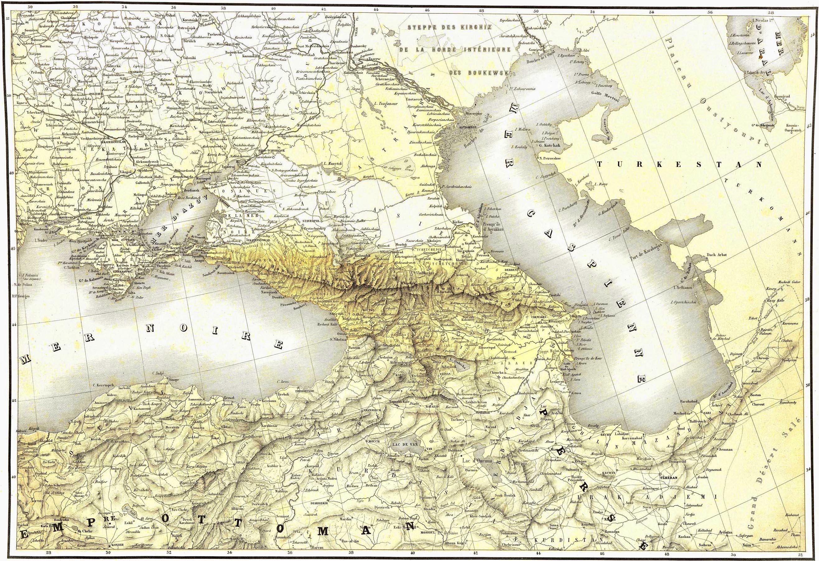 81. Carte generale du Caucase / Общая карта Кавказа