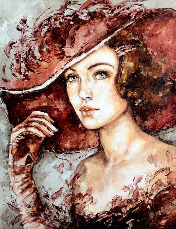 Женщины в шляпках.Эльжбиета Брожек
