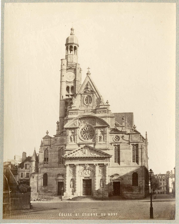 1880. Церковь Сент-Этьен-дю-Мон