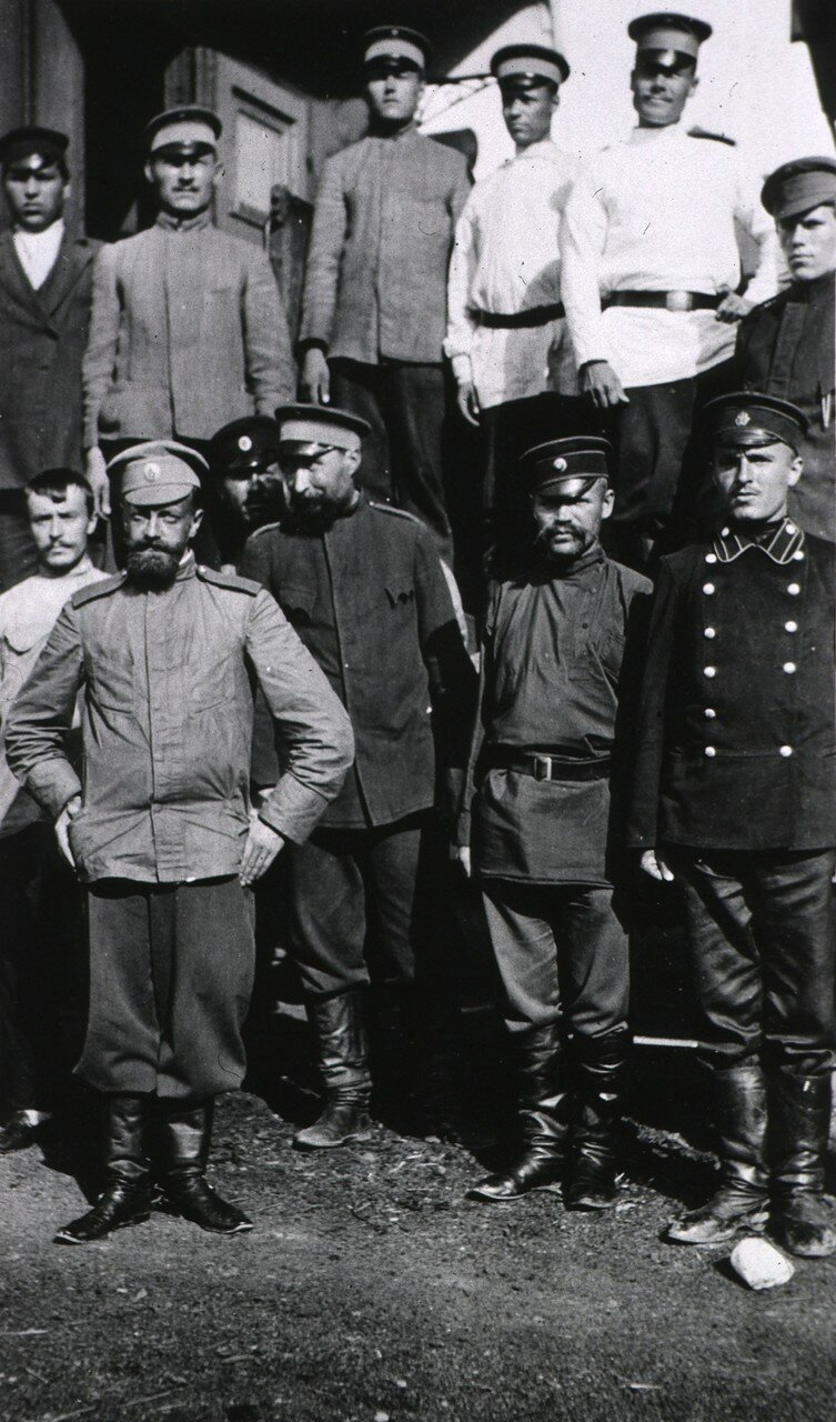 Санитарный поезд Великой Княгини Елизаветы Федоровны. Комендант и военный персонал поезда
