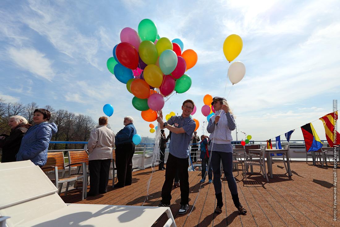 Воздушные шары туристам теплохода
