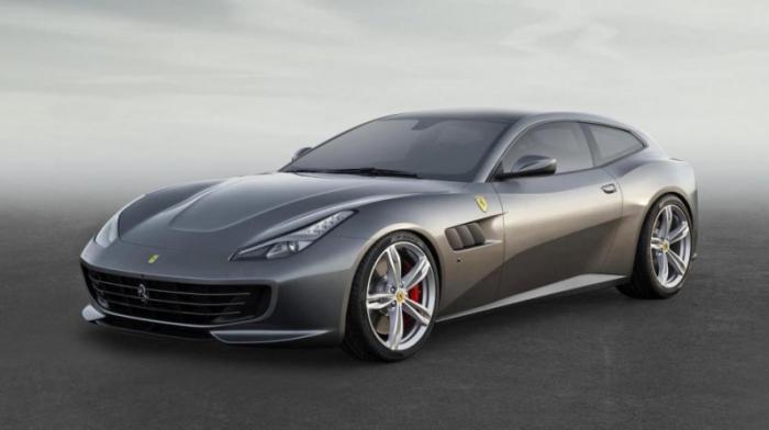 Начинаем со свеженькой Ferrari GTC4 Lusso. Пока не знаем, как там на деле, но на бумаге все суперски