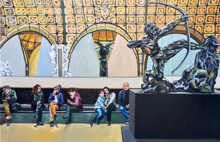 «Мы встали рано утром, чтобы прийти раньше толпы в Лувр, — пишет о своем опыте художница
