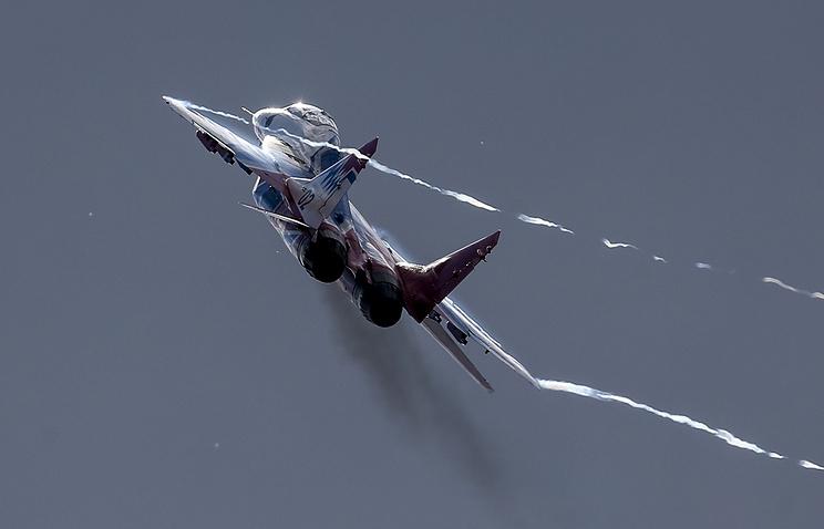 Крушение Су-27 «Русских витязей» вПодмосковье: первые фото