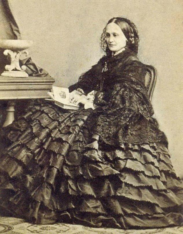 Н.Н.Пушкина-Ланская в возрасте 51 года. 1863 год, Ницца.