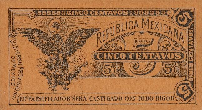Мексика, 5 сентаво, 1914