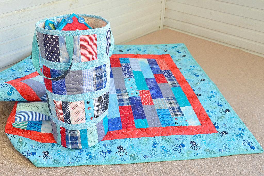 морские кубики текстильный набор покрывало торба (4).JPG