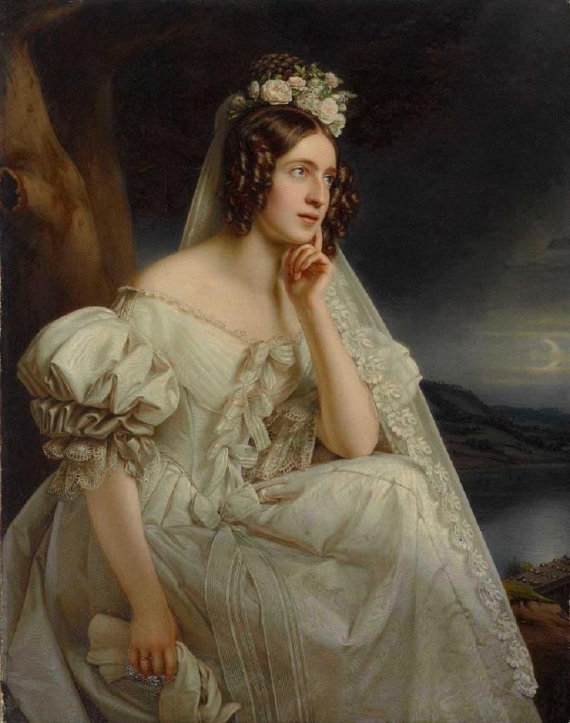 STIELER Joseph Karl,Josephine Stieler als Braut.jpg