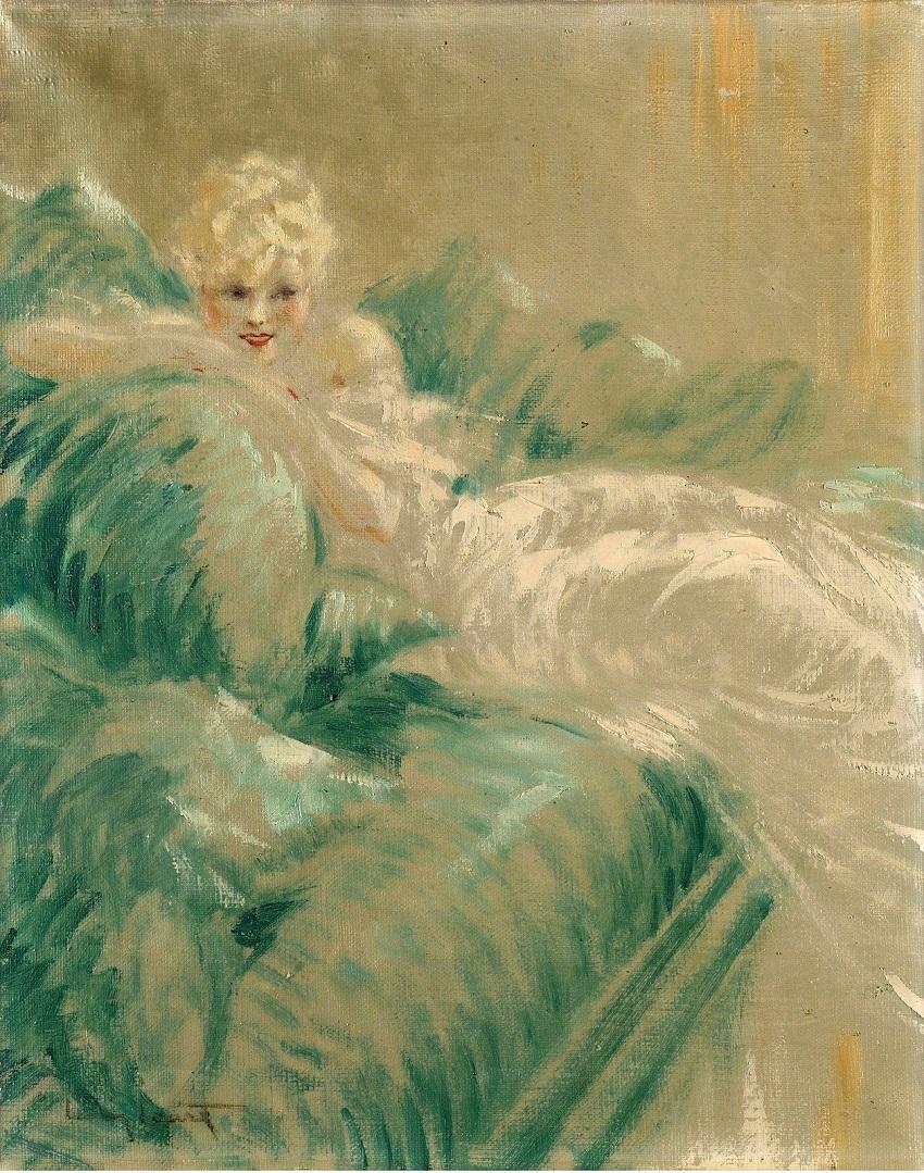 Дама в свадебном платье (Elegante a la Robe Blanche)
