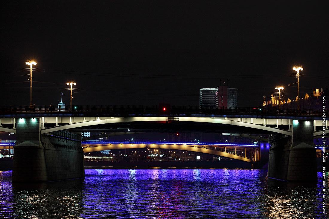 Бородинский мост ночное фото