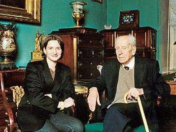 Дмитрий Лихачёв с внучкой Зинаидой Курбатовой