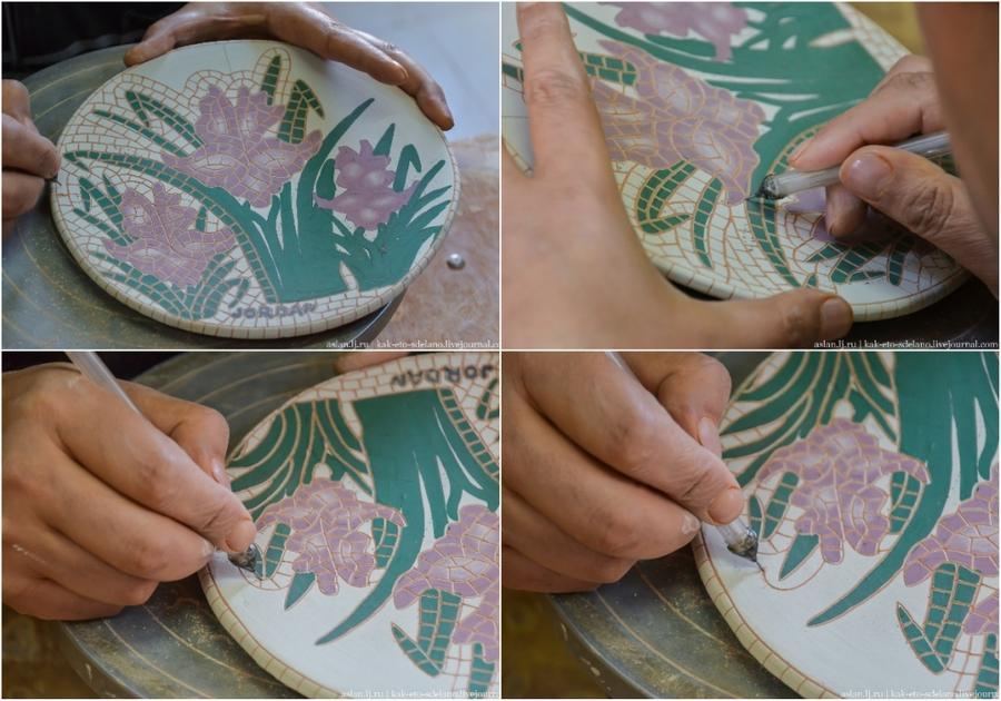 20. После обжига в печи эмаль затвердеет и рисунок будет почти неотличим от настоящей мозаики.