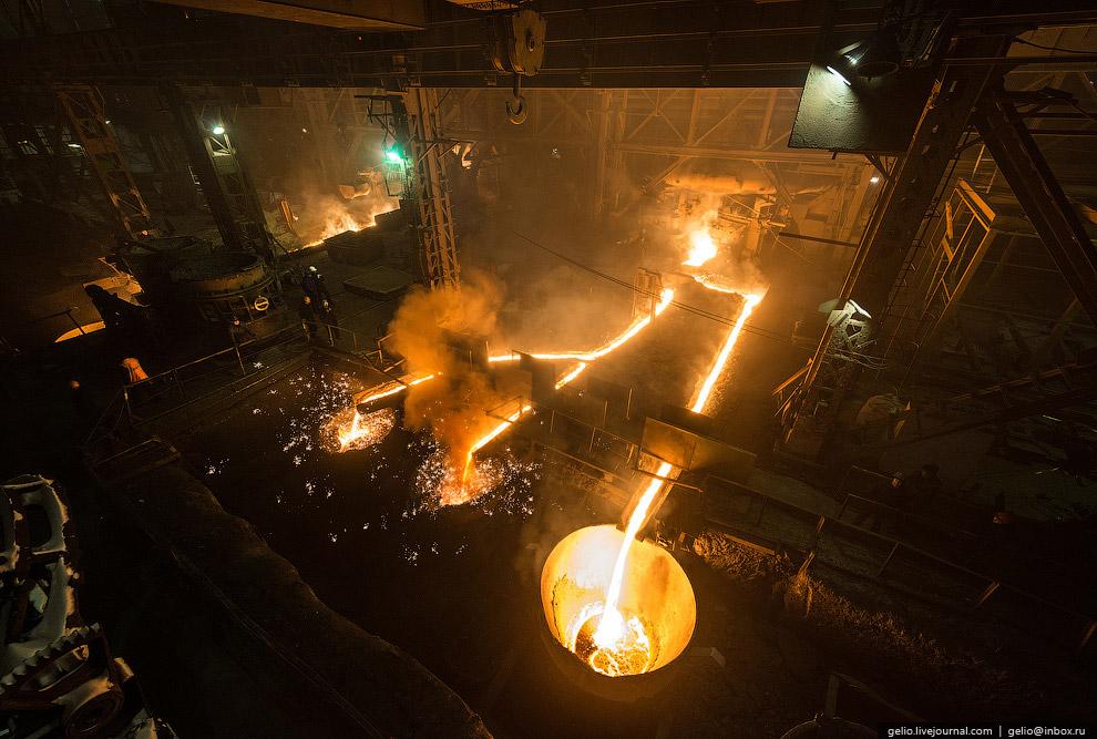 Общий объем производства стали за 117 лет на заводе превышает 58 млн тонн, из которых свыше 55