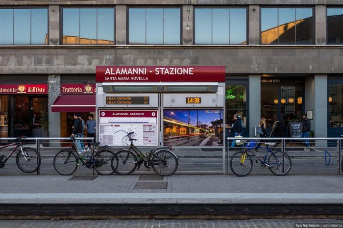 Трамвай во Флоренции одновременно очень старый и очень молодой. Это один из ряда европейских городов