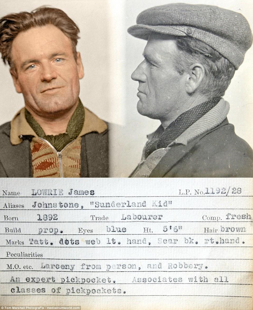 Джеймс Лоури — рабочий, родившийся в 1892 году. Джеймс значится в досье как эксперт по карманничеств