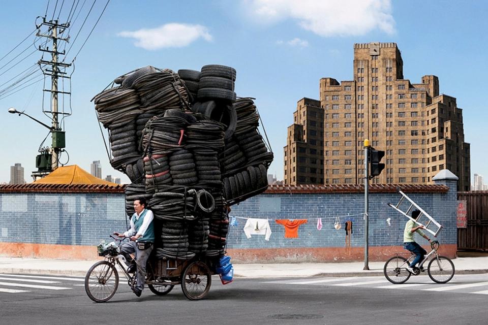 6. Телеги, велосипеды, мопеды – простейшая форма передвижения по эту сторону мула на фоне совр