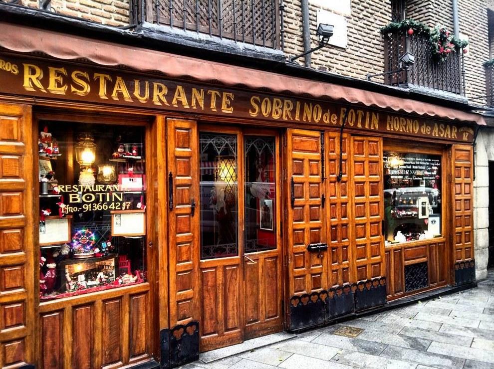 Ресторан Sobrino de Botin в Мадриде был открыт в 1725 году.