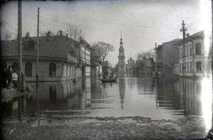 Казанская улица во время наводнения