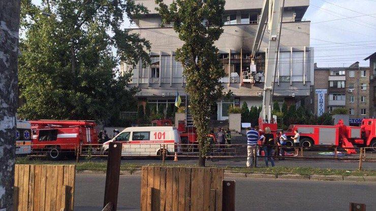 Всвязи спожаром вмногоэтажном здании канала «Интер» задержаны шесть человек