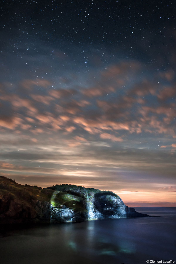 Portraits Mapping Projected on Trees and Rocks