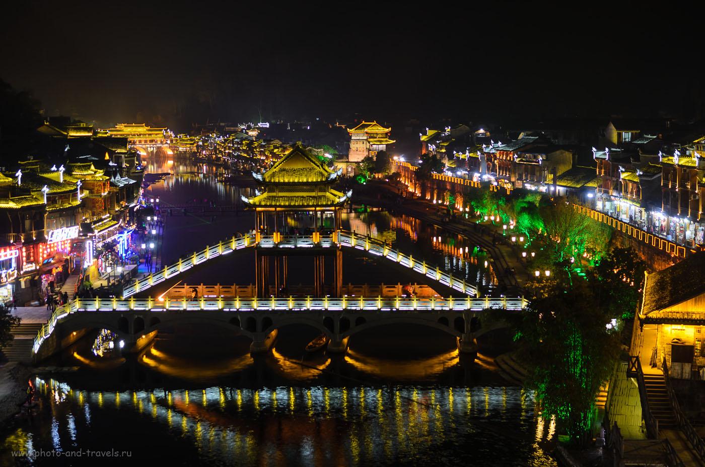 Фотография 26. Пример ночного пейзажа, снятого на Nikon D5100 с объективом Nikon 17-55mm f/2.8. Сравниваем с старшей по рангу и по возрасту Nikon D300s. Параметры съемки: ½, 2.8, 100, 35.