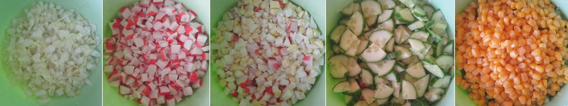 Салат из огурцов и крабовых палочек и кукурузы рецепт очень вкусный с