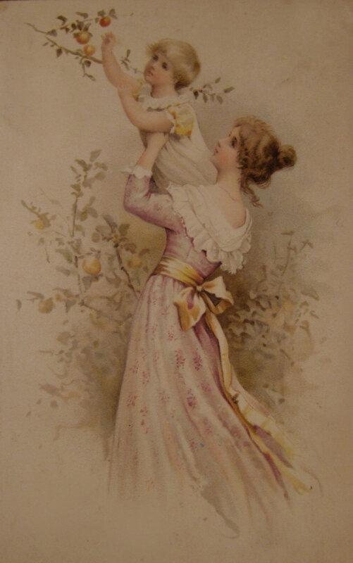 Картинка три, прекрасная эпоха модерна открытки