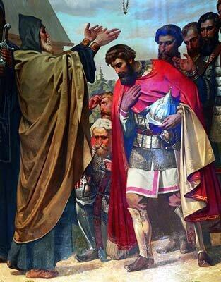 Сергий благословляет князя на битву