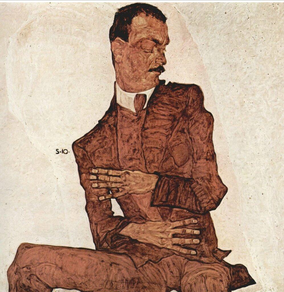 Портрет Артура Росслера(Австрийский историк искусства и художественный критик.) 1910_Шиле Эгон (1890-1918)