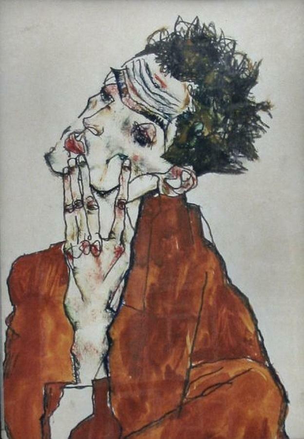 Автопортрет, Шиле Эгон (1890-1918)