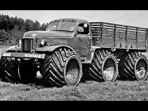 Опытный бортовой 2,5-тонный грузовик ЗИЛ-157Р (6x6) на арочных шинах. 1957 год.jpg