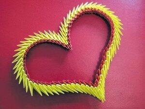 Подари частичку своей души - сердце из оригами