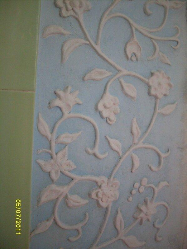 Цветы из лепнины своими руками 380
