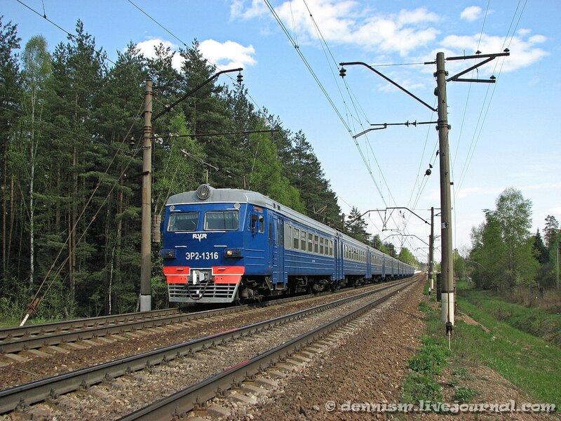 Электропоезд ЭР2-1316, перегон Монино - Чкаловская
