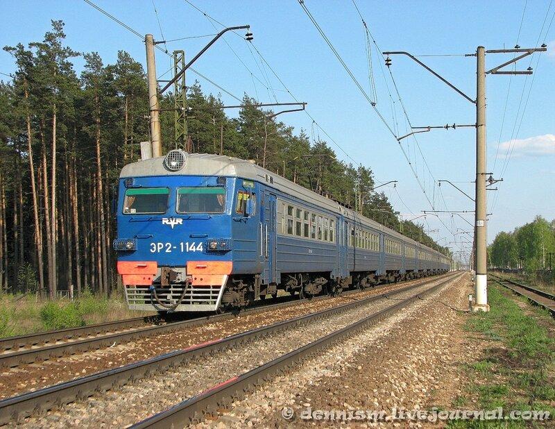 Электропоезд ЭР2-1144, перегон Монино - Чкаловская