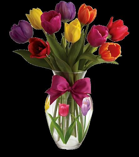 bouquets de fleurs,tulipes
