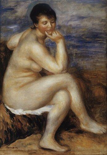 Ренуар. Купальщица, сидящая на скале.jpg