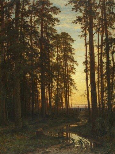 Шишкин И.И. Вечер в сосновом лесу. 1875 г. холст, масло; 116,5х87,7.jpg