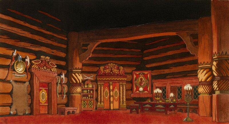 Set Design for the Opera The Tsar's Bride by Nikolai Rimsky-Korsakov, First Act