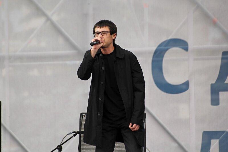исполнители на рок-концерте на мотослете «Союз Счастливцев»