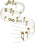 music notes gold~ladyredneck.png