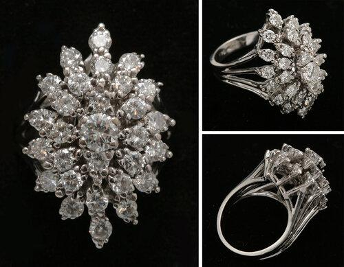 Кольцо с бриллиантами.Вес 8.88 г.  60000-90000 рублей.