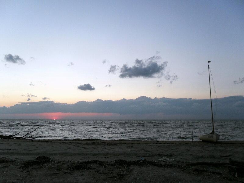 На берегу Ачуевской косы