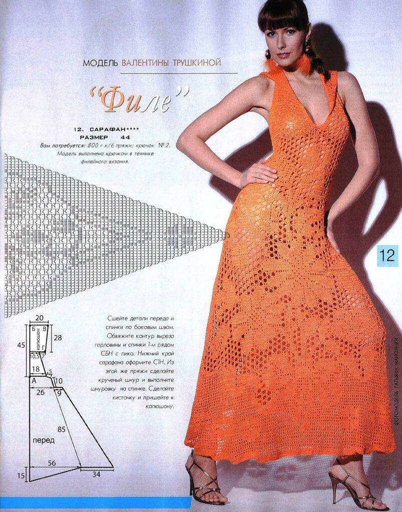 Вязание летнего платья крючком 15