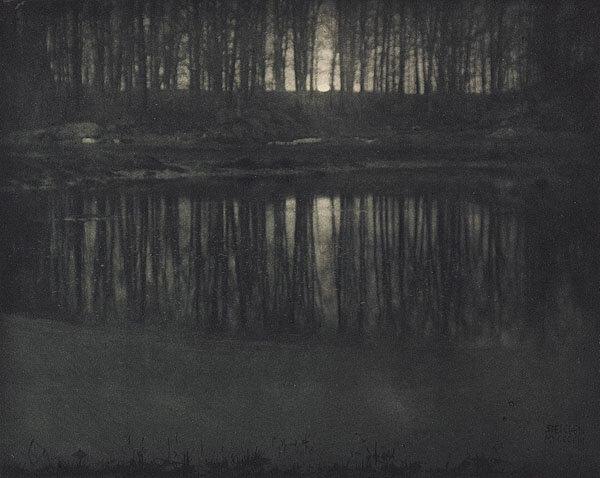 Edward Steichen.Moonlight the pond 1904