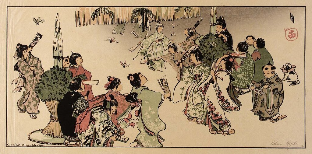 New Year's Day in Tokyo 1914 Helen Hyde