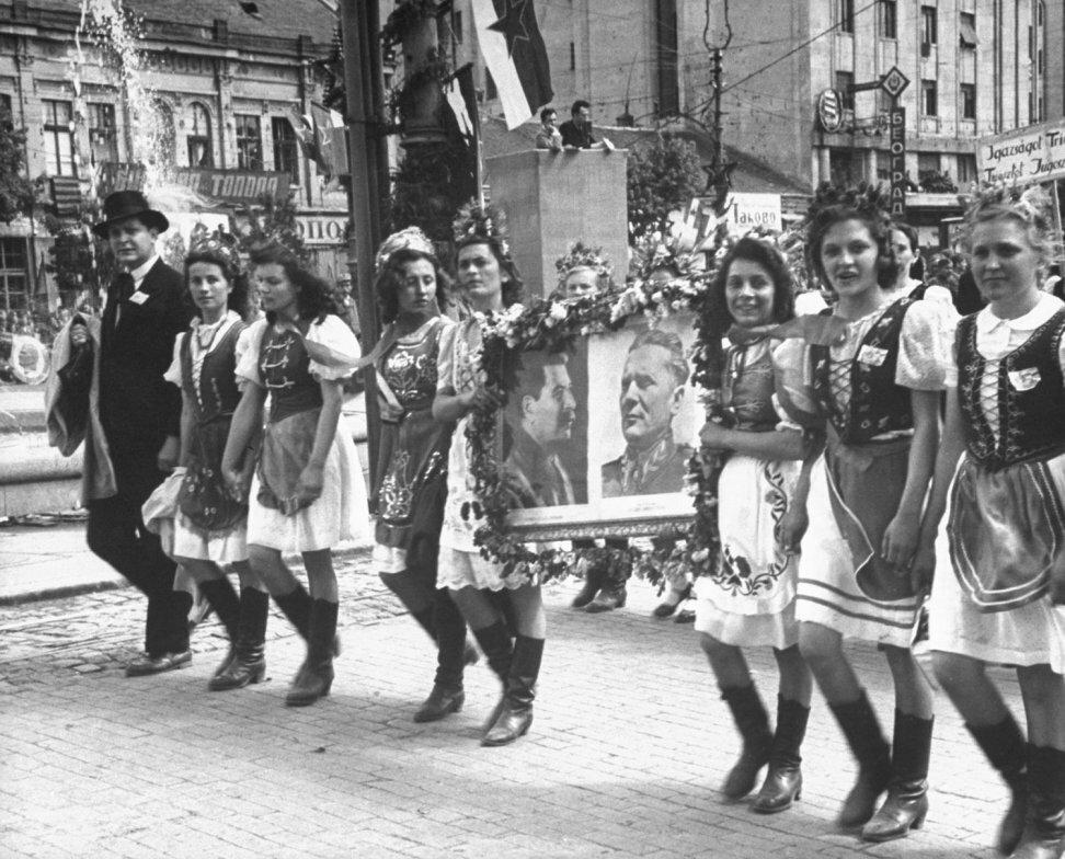 May Day parade in Belgrade, Yugoslavia,1946 by Nat Farbman