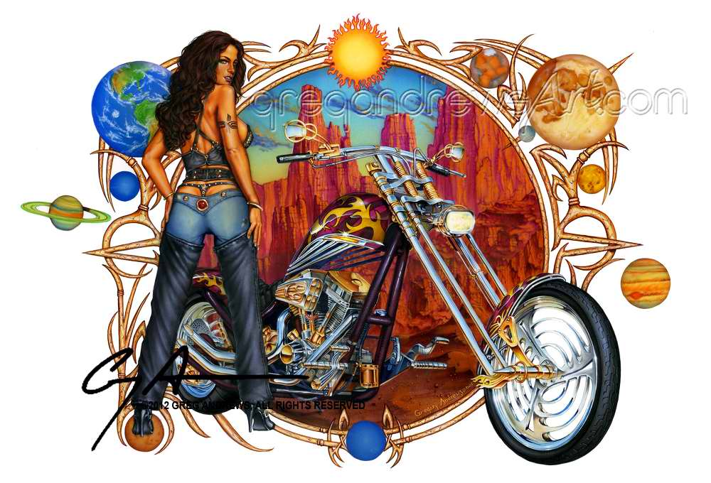 Гонщица среди американской пустыни - Greg Andrews
